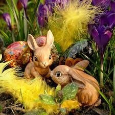 The Easter Bunny and decorated eggs, Easter staples, seem to have their roots in the worship of the Spring fertility goddess, Ostara