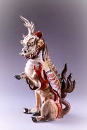 The Chinese qilin looks quite different from a stereotypical unicorn.