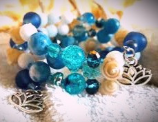 Combining aquamarine and blue agate can increase the calming energy of both crystals.