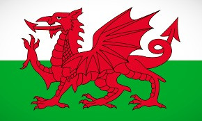 Wales' National flag features the Red Dragon.