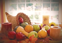 Autumnal fruits, veggies, and grains are appropriate for a Celtic Halloween.