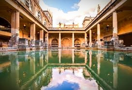 Bath, England is a living reminder of the technology introduced to the Celts of Britannia by the Romans, such as indoor plumbing and heated baths.