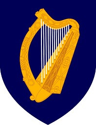 The harp, not shamrocks, is the national symbol of the Republic of Ireland.
