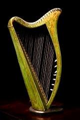 The Irish harp is the national symbol of the Republic of Ireland.