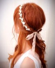 For an Irish wedding, skip the veil. Instead, adorn your hair with flowers and lace.