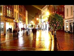 Grafton Street, Dublin, the Irish version of Fifth Avenue, is the original home to Molly Malone's statue.