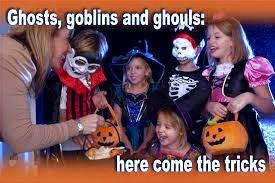 Wearing costumes and masks comes from a Celtic Samhain tradition.