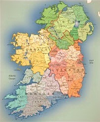 The four traditional provinces of Ireland.