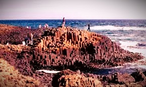 Giant's Causeway, according to myth, is the remains of a bridge to Scotland built by Irish hero, Finn MacCumhail.