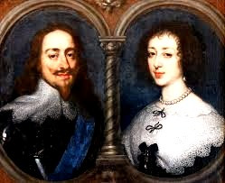 Charles I and his wife, Henrietta Marie.