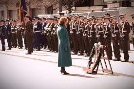 A wreath-laying ceremony commemorating those who died as a result of the Easter Rising.