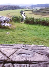 The foot imprint in stone at Dunadd, Scotland.  Ancient kings of the Gaels stepped here and symbolically married the land (the earth goddess).