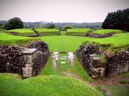 """""""Arthur's Round Table"""" in Caerleon, Wales."""