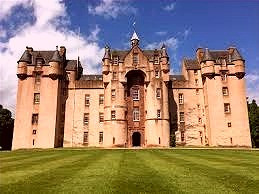 Fyvie Castle in Aberdeen, Scotland is reportedly haunted by Lilas Drummond aka The Green Lady.
