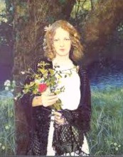 Ophelia handed out herbal flowers to the court in Hamlet.  Sadly, shortly after she did, she died.