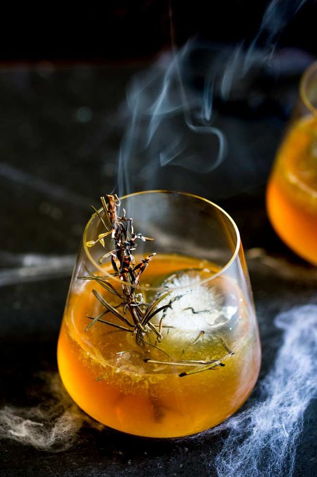 Smoking rosemary is used in purification rituals.  It also looks pretty cool in a cocktail.