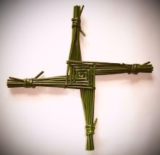 A popular activity for St. Brigid's Day is to weave a cross from rushes.  The cross is then hung in the house to protect the family from harm.