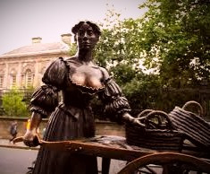 Legendary Dublin resident, Molly Malone, has been immortalized in statue and in Irish ballads.