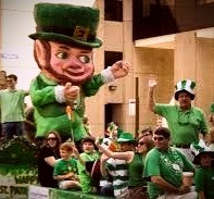 St. Patrick's Day parades started in the U.S. but now are popular in Ireland too.