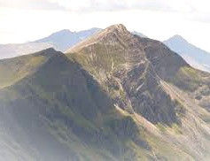 Ben Nevis in Scotland is said to be the Cailleach's Seat or Throne.