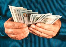 Getting money or giving it?  The answer's in the palm of your hands.