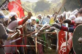 The Battle of Hastings ended Anglo-Saxon rule in England and began the Norman period.  Under the Normans (and the Tudors), England took measures to united with the Celtic lands of Scotland, Wales, and Ireland.