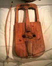 The Welsh crwth, a six-string instrument played with a bow, is thought to be a forerunner of the fiddle.