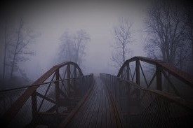 As he approached the bridge, a chill went through him like a cold wind blowing through his heart.