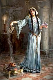 Morrigan, a triple goddess, had three aspects: crone, mother, and beautiful maiden.