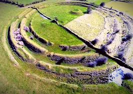 The Ring Fort at Rathcroghan in Co. Roscommon is associated with both myth and Irish folklore.
