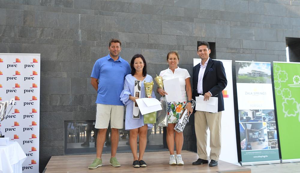 Nettő női 1. helyezett Luu Thi Thu Huong, Hajni (balról 2.), 2. helyezett Kovácsné Földesi Katalin (balról 3.), 3. helyezett Turkovics Ilona (nincs a képen)