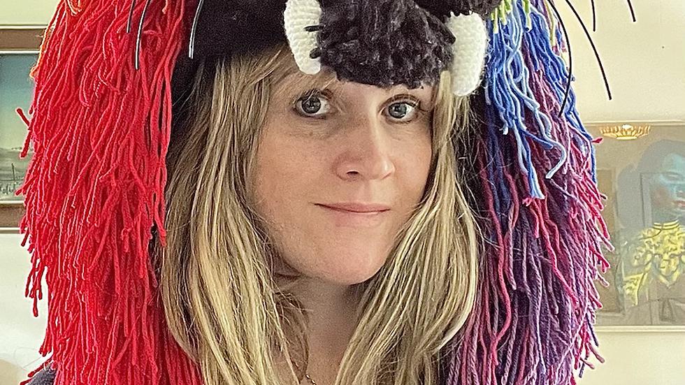 Neon Rainbow lion hat