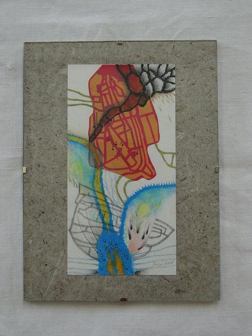 """Macerata Flow"" - small mixed media collage"