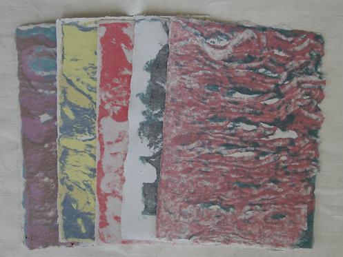 Vat Marbeled Paper - 5 Sheets Set