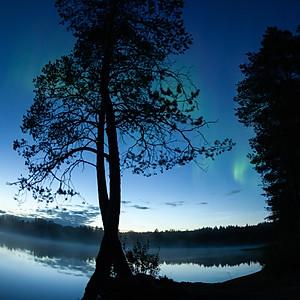 Revontulet Norvajärvellä