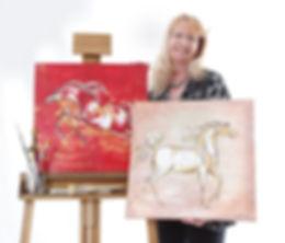 artist linda finstad and horse paintings