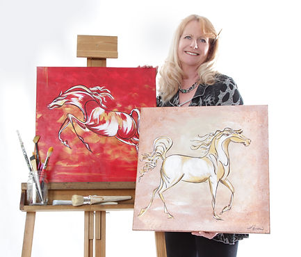 artist linda finstad and horse paintings