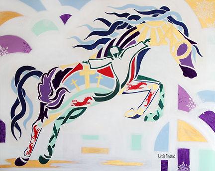 Christian themed horse art