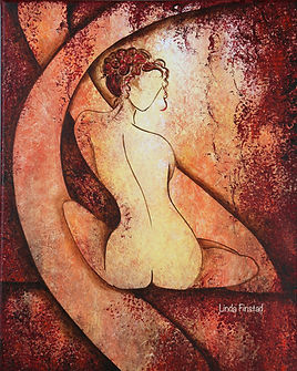feamle abstract nude, figurative painting