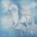 painting of a horse by Linda Finstad