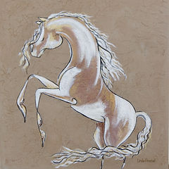 abstract painting of a rearing horse by Linda Finstad