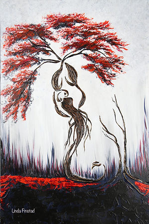 Tree painting depicting the Scorpio sign of the zodiac