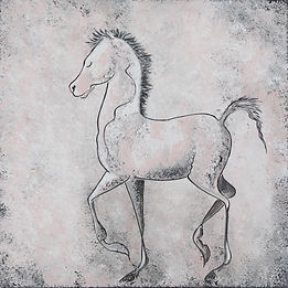 painting of a baby horse by Linda Finstad
