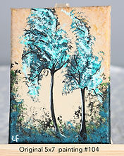 Tree painting gift card