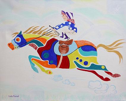 prism-equus painting of shortie te shetland pony