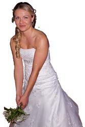 Hochzeit, Brautstrauß werfen