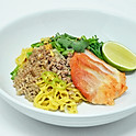Dry Egg Noodles with Roasted Pork & Ground Chicken / บะหมี่แห้ง