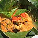 Mushroom Curry in Banana Leaf / ห่อหมกเห็ด