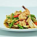 Shrimp Stir-Fried with Spicy Shrimp Paste / กุ้งผัดกะปิ