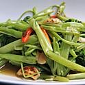 Spicy Stir-Fried Thai Water Spinach / ผัดผักบุ้งไฟแดง